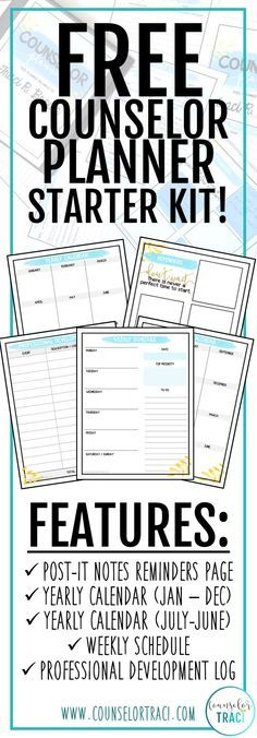 Finally get organized and start the year off ready! Perfect for school counselors who want to get organized for the school year! Features soft colors for ink friendly printing!