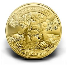 Canada 500 Dollars Gold Coin 2010 Anniversary of the First Bank Notes issued by the Bank of Canada First Bank, Gold Money, Gold And Silver Coins, Gold Medallion, World Coins, Rare Coins, Coin Collecting, Precious Metals, Anniversary