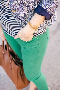 Blogger @Kendi Everyday  in her Stella & Dot Renegade bracelet. http://www.kendieveryday.com/2013/03/almost-spring.html