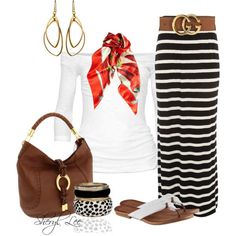 Casual Outfits 2015 | Striped Maxi