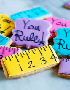 You Rule! Cookies from Bridget @bakeat350. Perfect for back to school time!