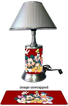 Amazon.com : Disney Characters Lamp with chrome shade, Mickey Mouse, Minnie Mouse and more : Sports & Outdoors