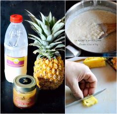 Ingrédients riz au lait cru à l'ananas victoria et caramel de noël