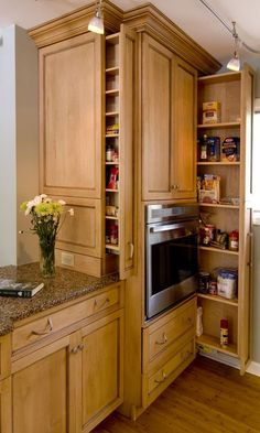 Small Kitchen Ideas For Your Appartement, . Small Kitchen Ideas For Your Appartement, Small Kitchen Ideas For Your Appartement, Pull Out Pantry Filler Stackable Custom Kitchen Cabinets New Kitchen Cabinets, Kitchen Redo, Kitchen Pantry, Kitchen Ideas, Big Kitchen, Kitchen Tools, Hidden Kitchen, Kitchen Designs, Pantry Ideas