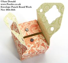 Sewing Style Box with the Envelope Punch Box ~ instructions and video by Pootles
