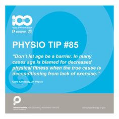 #physio tip. Don't let age be a barrier