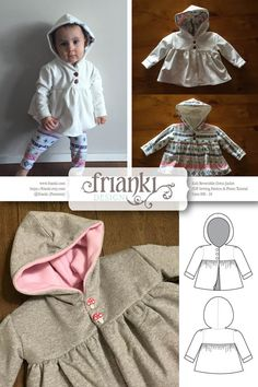 Children's Reversible Dress Jacket with Hood  PDF by Frianki