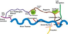 Map of London's Waterways