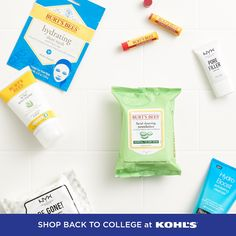 No matter what the new semester looks like, start off feeling fresh with these feel-good finds for your hair + skin. Add a styling tool, makeup pallet, face wipes and more to your back-to-college toolkit. Shop personal care at Kohl's and Kohls.com. #backtocollege #personalcare Back To College, Makeup Pallets, Leaving Home, Good Find, Burts Bees, Styling Tools, Kohls, Health And Beauty, Feel Good