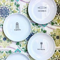 Love my new punny plates  . . . . #pier1love #pier1imports #puns #foodpuns #adorable #nomnom