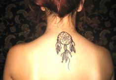 Tattoo Designs for Your Neck | Dream Catcher Tattoo On Back