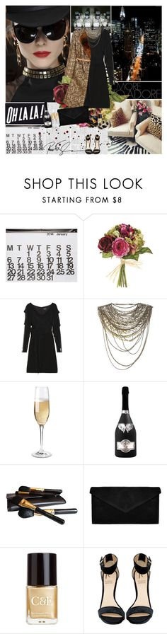 """""""Gold and Black"""" by amimcqueen ❤ liked on Polyvore featuring Notte by Marchesa, Dries Van Noten, Christian Lacroix, Wine Enthusiast, Iman, Crabtree & Evelyn, Rihanna For River Island and Atmos&Here"""