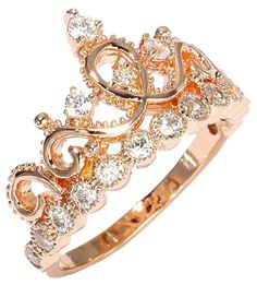 To feel like a princess ;) Gold plated crown ring.