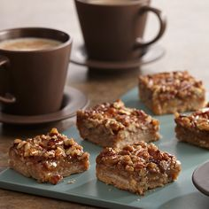 A holiday favorite dessert with all the flavors of pecan pie in easy-to-make bar form. Great for cookie exchanges because you bake just one pan instead of multiple batches as you do for individual cookies.