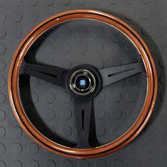 Nardi Classico Steering Wheel 360MM Wood With Black Spokes For Miata MX5 MX-5 ALL YEARS JDM Roadster : REV9 Autosport
