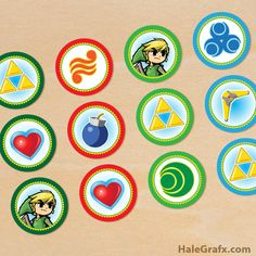 Click here to download FREE Printable Legend of Zelda Cupcake Toppers!
