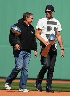 Bill and Tom - Sox Home Opener 2015 Jersey Patriots c6cf3340aa93