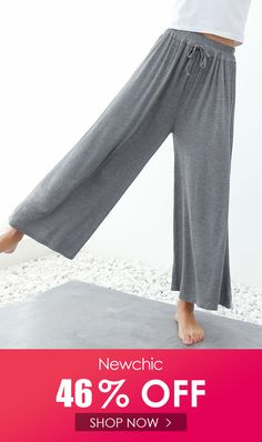 mancaihuixiu High Drawstring Waist Wide Leg Loose Modal Pants is necessary for cold weather, NewChic will show cheap trendy women Pants & Capris for you. Pants For Women, Clothes For Women, Short Legs, Red Pants, Drawstring Waist, Wide Leg, Thighs, Pajama Pants, Shopping