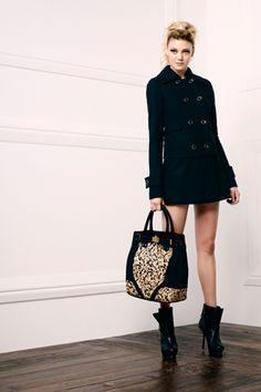 Faye Jacket.  Mylan A-Line Mini Skirt.  Zoe Shopper.  Michelle Bootie.