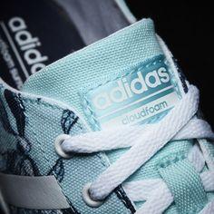 Adidas Cloudfoam Qt Vulc Shoes Clear Aqua Footwear White Collegiate Navy