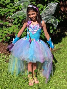 This item is unavailable Tutu Costumes, Costume Dress, Cool Costumes, Fairy Princess Costume, Mermaid Birthday Outfit, Baby Tutu Dresses, Water Fairy, Fairy Clothes, Turquoise And Purple
