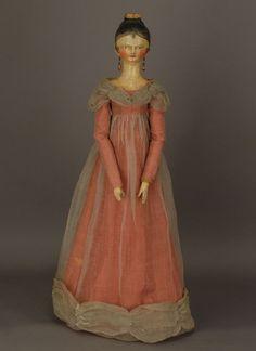 Tuck Comb Wooden Doll , Grodner Tal  Old Fashion Dolls and Dresses : Original Regency Costuming
