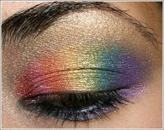 rainbow eyeshadow tutorial <3  How much fun would this be for Abigail... twirling recital?!?!?!