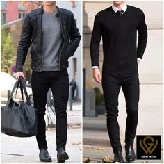 Great look with fitted black jeans. Great look with fitted black jeans. Mens Fashion Suits, Fashion Wear, Formal Men Outfit, Mens Semi Formal Wear, Traje Casual, Style Masculin, Herren Outfit, Stylish Mens Outfits, Men Style Tips