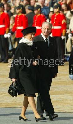 King Albert II and Queen Paola of Belgium.  2004