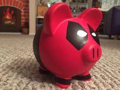 Medio de alcancía de cerámica pintado a mano de Deadpool | Etsy Dead Pool, Pottery Painting, Ceramic Painting, Rock Crafts, Diy Crafts, Money Box, Everything Pink, Hand Painted Ceramics