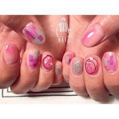 ▫◽◽▫⚪ #nail#art#nailart#ネイル#ネイルアート #クリアネイル#cute#kawaii#ワイヤーネイル#pink#ショートネイル#nailsalon#ネイルサロン#表参道#クリアネイル111#ワイヤー111 #pink111