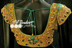 Heavy Work Wedding Blouse ~ Celebrity Sarees, Designer Sarees, Bridal Sarees, Latest Blouse Designs 2014