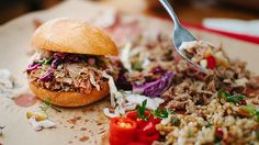 You don't need a stash of cash to eat well in Melbourne. Treat your tastebuds without testing your credit limit at one of many affordable restaurants. Pulled Pork, Eating Well, Salmon Burgers, Melbourne Australia, Tasty, Ethnic Recipes, Shopping, Hospitality