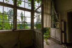 Abandoned places: old clinic in Germany.
