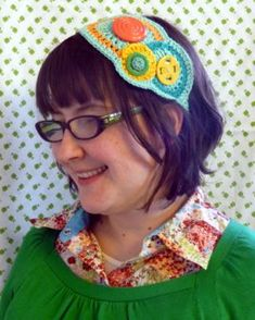 Now youre set to go in colorful style. Depending on your yarn, button, and placement choices, you can make this headband just right for you.