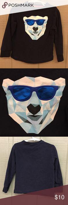 Gymboree navy geometric polar bear in sunglasses Gymboree navy geometric polar bear in sunglasses Gymboree Shirts & Tops Tees - Long Sleeve