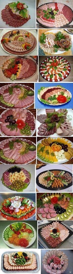 Verschieden belegte Platten - sehen sehr dekorativ aus!