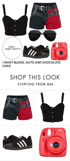 """Untitled #403"" by rap-hottie ❤ liked on Polyvore featuring beauty, Rare London, adidas and Fuji"