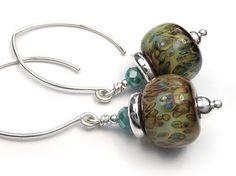 Lampwork Glass Earrings - Paisley