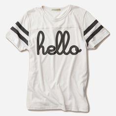Hello (Adult) Ivory/Vintage Black Eco-Football Crew