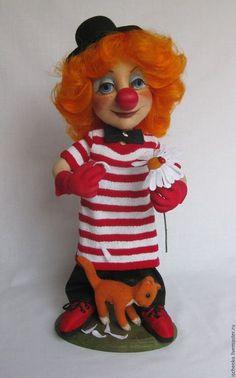 Коллекционные куклы ручной работы. Ярмарка Мастеров - ручная работа. Купить Кукла Клоунесса. Handmade. Комбинированный, клоун, текстиль