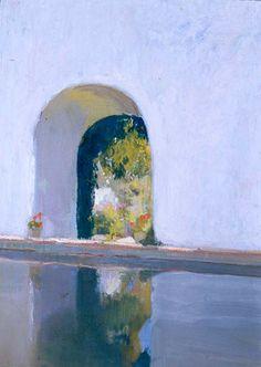 Alberca del Alcázar de Sevilla. 1918 Academic Art, Spanish Painters, Mediterranean Garden, Land Scape, Art Inspo, Spain, Artsy, Drawings, Artworks