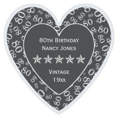 80th Birthday Party White/Black Theme Paper Coaster - birthday diy gift present custom ideas