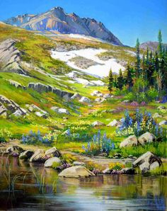"Bonita Paulis Fine Art Lake Tahoe California Pastel Landscapes: 16"" x 20"" pastel paintings"