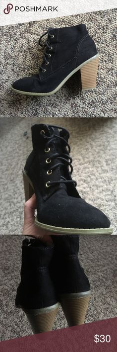 Lace up ankle boots! Barely worn. Minimal scuff marks. Aeropostale Shoes Ankle Boots & Booties