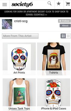GO Check it OUT!!! MASSIVE price reductions on all my stuff on https://society6.com/cristiscg