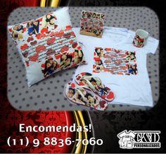 kit caneca  almofada  azulejo  camiseta  chinelodia dos namorados Diversas estampas! Encomendas pelo tel/whatsapp: 11 9 8836-7060 #diadosnamorados #amor #almofada #caneca #chinelo #camiseta