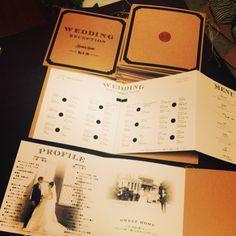 できたー! #席次表 #メニュー表 #プロフィール #プロフィールブック #ペーパーアイテム #クラフト紙 #DIY #プレ花嫁 #結婚式 #wedding #ウエディング #結婚式準備 #結婚準備 #bridal