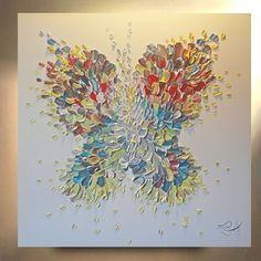 "CUSTOM Painting ""Enchantment"" 36x36 Butterfly Wall Art Fairy Canvas Angel Abstract Oil Painting Original Canvas Abstract OTO"