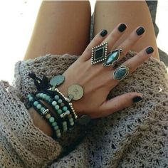 Love the rings and the bracelets